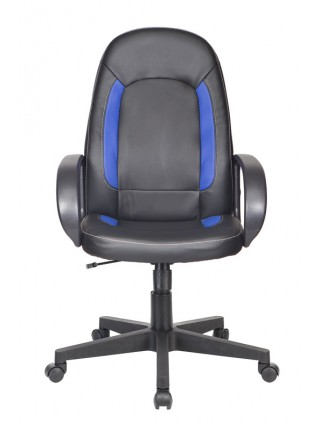 Кресло руководителя Бюрократ CH-826/B+BL вставки синий сиденье черный искусственная кожа