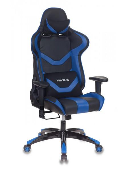 Кресло игровое Бюрократ CH-772N/BL+BLUE две подушки черный/синий искусственная кожа (пластик черный)