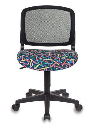 Кресло детское Бюрократ CH-296/PENCIL-BL спинка сетка черный карандаши