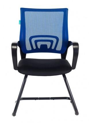 Кресло Бюрократ CH-695N-AV/BL/TW-11 на полозьях синий TW-05 сиденье черный TW-11