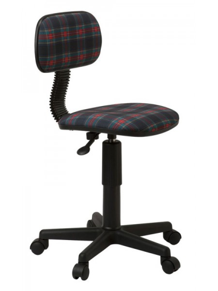 Кресло детское Бюрократ CH-201NX/53-11 коричневый клетка шотландка 53-11