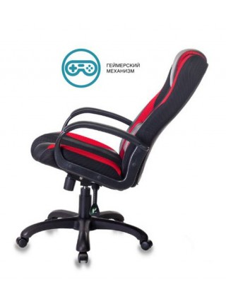 Кресло игровое Бюрократ VIKING-9/BL+RED черный/красный искусст.кожа/ткань