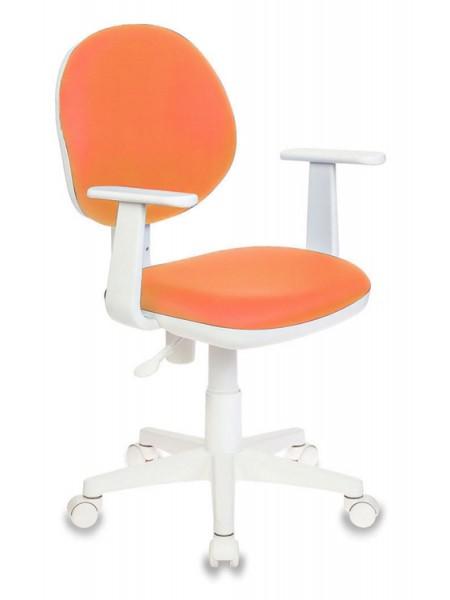 Кресло детское Бюрократ CH-W356AXSN/15-75 оранжевый 15-75 колеса белый (пластик белый)