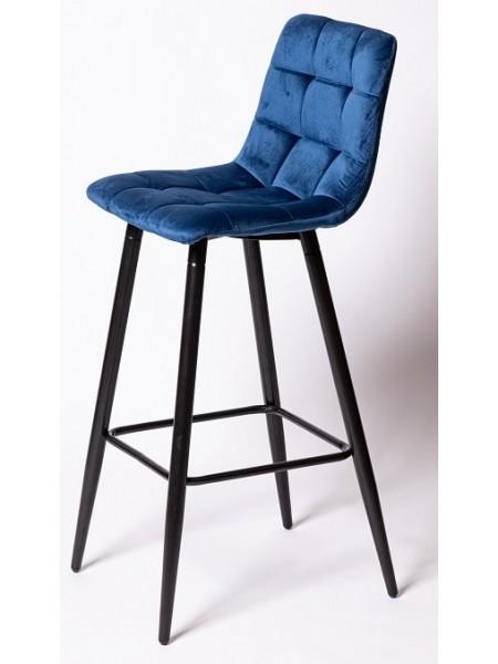 Барный стул UDC 8078 синий велюр