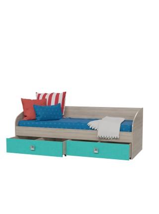 Кровать Сити Аква с ящиками