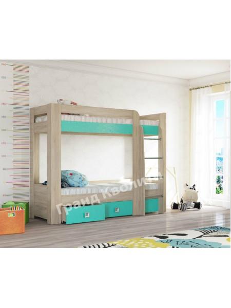 Двухъярусная кровать Сити Аква