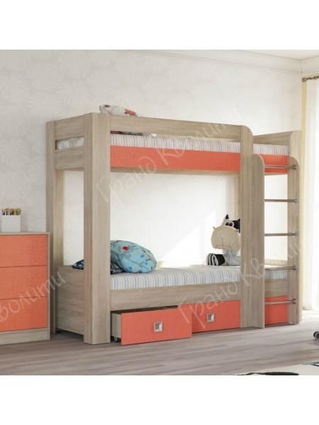 Двухъярусная кровать Сити Коралл