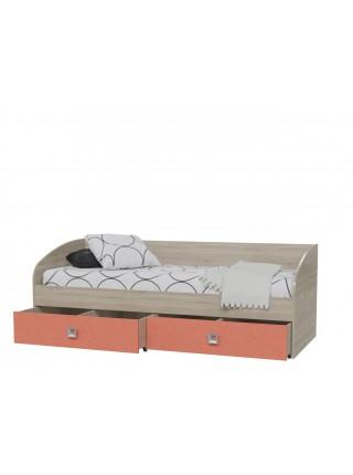 Кровать Сити Коралл с ящиками