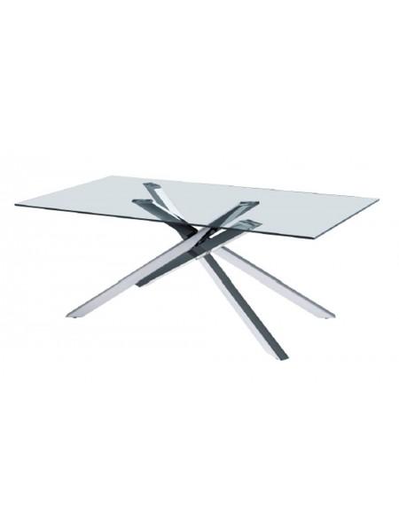 Стол MK-7513-GL обеденный стеклянный 100х180х75 см Прозрачный