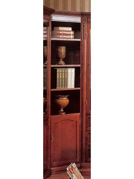Шкаф Валенсия C05 MK-1736-DN книжный угловой 70х70х220 см Темный орех