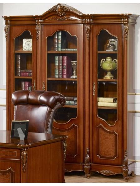 Шкаф Виктория 3136 MK-3048-BR 3-дверный 181х56х223 см Темный орех