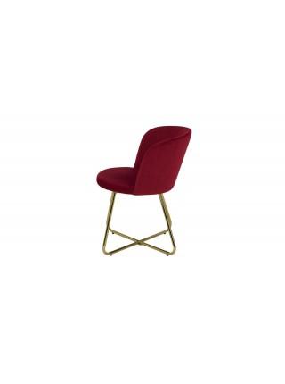 Стул MK-4339-RG золотая ножка 53х57х78 см Красный