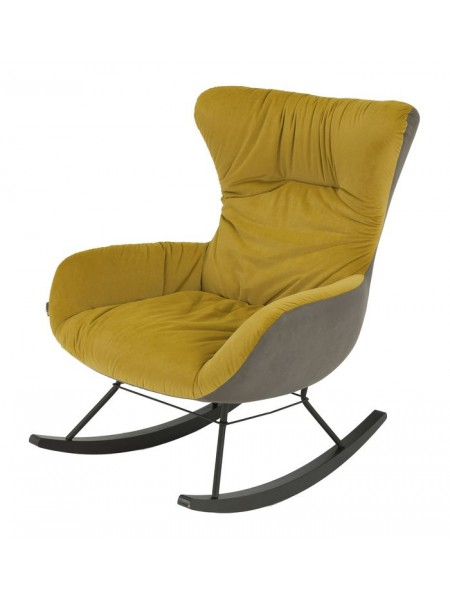 Кресло-качалка MK-6933-YL 72х90х93 см Жёлтый