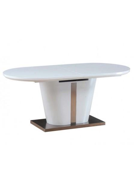 Стол Berkli MK-4314-WT обеденный раскладной 90х180(220)х76 см Белый