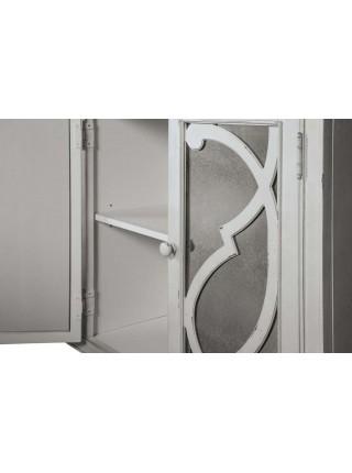 Буфет Mirimyn T505-562 с зеркальными дверцами 172х41х91 см Белый