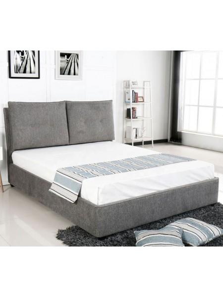 Кровать MK-7600-GY двуспальная 160х200 см Серый