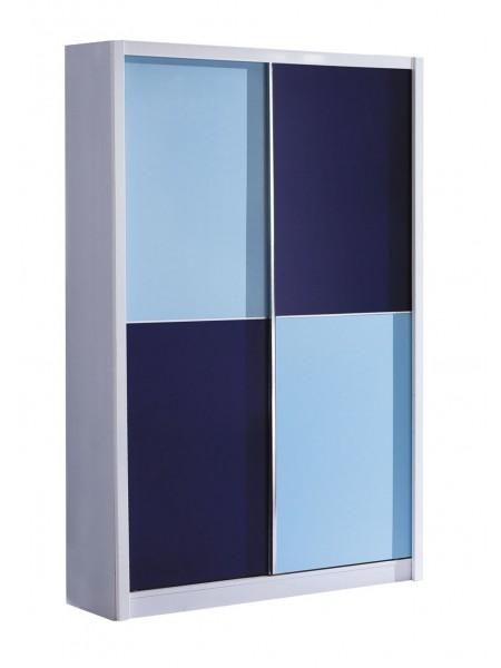 Шкаф-купе Bambino MK-4602-BL 120х58х200 см Синий/Белый