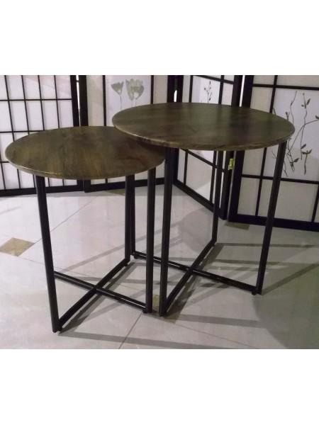 Комплект MK-2364 из 2 столиков 48х60х50 см Орех