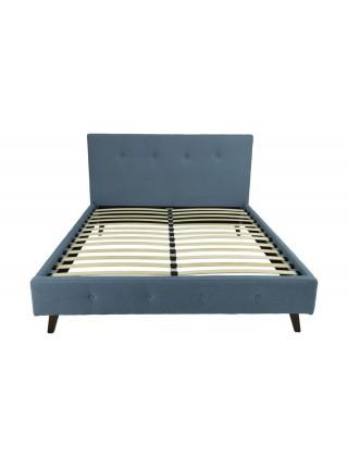 Кровать MK-7601-TU двуспальная 160х200 см Бирюзовый