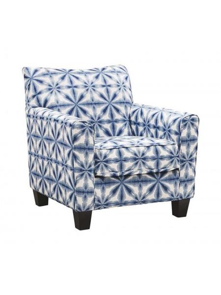 Кресло Kiessel Nuvella 1450421 акцентное 89х91х91 см Синий/Белый