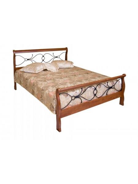 Кровать 425-N MK-2121-RO двуспальная 140х200 см Темная вишня