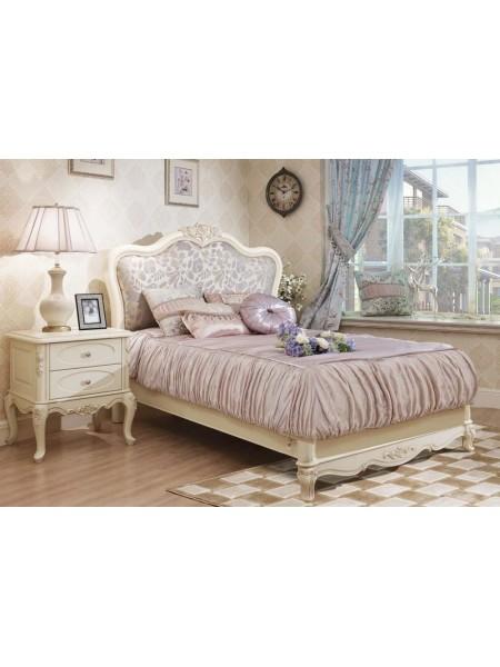 Кровать Милано MK-1846-IV двуспальная (цвет патины: золото) 120х200 см Слоновая кость