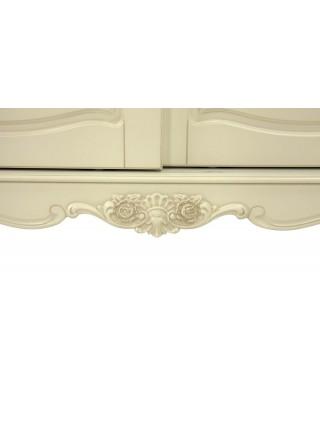 Шкаф-купе Милано MK-1884-IV 2-дверный (цвет патины: золото) 150х68х221 см Слоновая кость