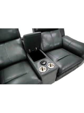 Диван MK-4716-GL 2-местный реклайнер электрический с домашним кинотеатром 200х100х102 см Графит