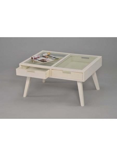 Столик журнальный MK-6311-WT 60х100х42 см Белый
