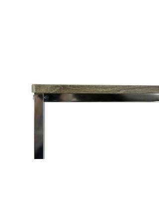 Столик консольный MK-6309 41х107х76 см Орех/хром