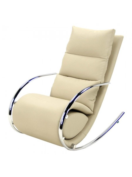 Кресло-качалка MK-5503-BG с пуфом 67х102х111 см Бежевый
