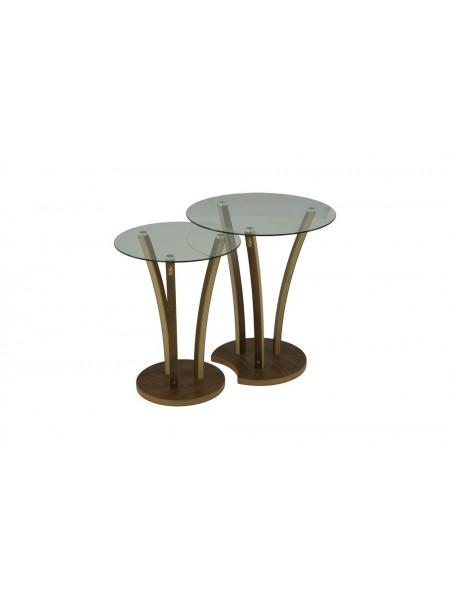 Комплект MK-6332 из 2 столиков 50х50х58 см Орех