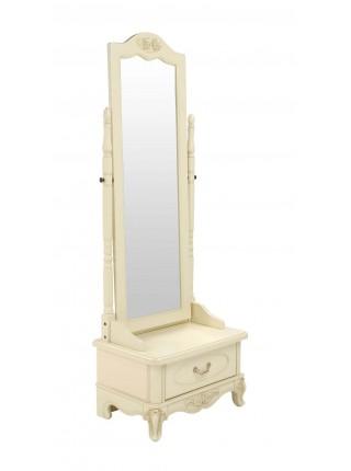 Трюмо Милано 8802 MK-1823-IV (цвет патины: золото) 60х4444х188 см Слоновая кость