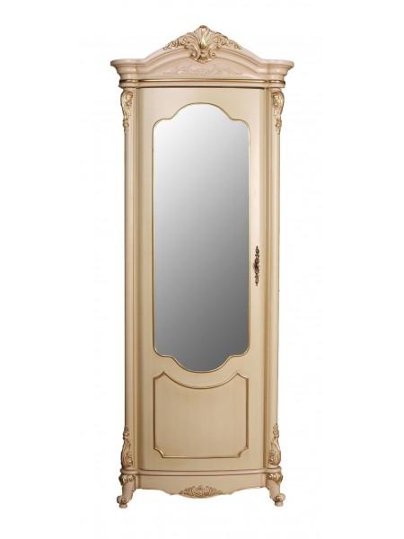 Витрина Виктория 3136 MK-3024-BG 1-дверная левая (цвет патины: золото) 79х47х220 см Бежевый