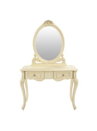 Зеркало Милано 8802-A MK-1802-IV для консоли (цвет патины: золото) 82х8х90 см Слоновая кость