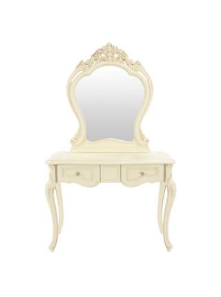 Туалетный столик Милано MK-1850-IV (цвет патины: золото) 106х47х176 см Слоновая кость