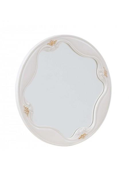 Зеркало Luisa MK-5009-WG (цвет патины: золото) 68х0х68 см Белый с золотом