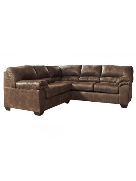 Диван Bladen 1200055 2-местный модульный (левая секция углового дивана) 142х97х97 см Коричневый