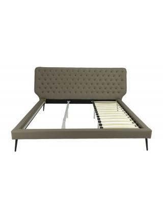 Кровать MK-7603-BG двуспальная 180х200 см Бежевый
