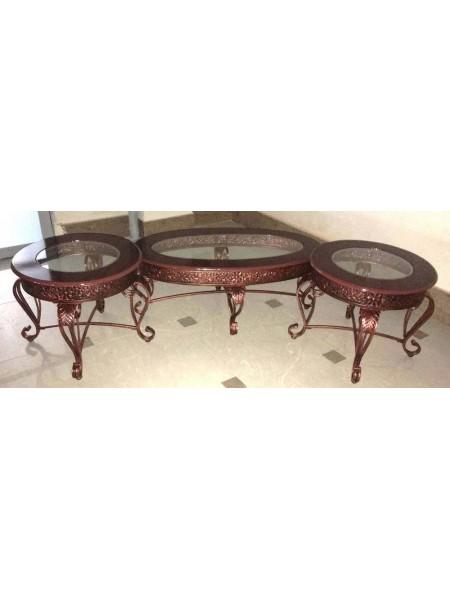 Кофейная группа MK-4801 3 столика 110х43х60 см Бронзовый