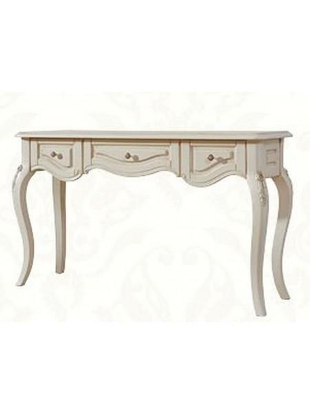 Столик консольный Милано MK-1872-IV (цвет патины: золото) 43х142х83 см Слоновая кость