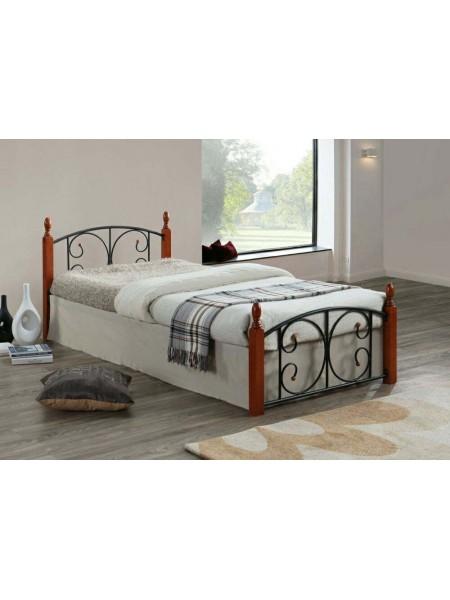 Кровать Lara MK-5223-RO двуспальная 180х200 см Темная вишня