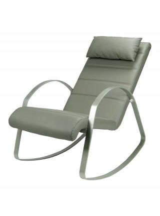Кресло-качалка MK-5513-GR 62х125х80 см Серый