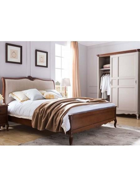 Кровать Florence MK-5081-BR двуспальная 181х201 см Итальянский орех