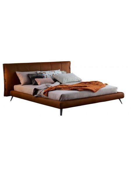 Кровать MK-6606-REL двуспальная 160х200 см Рыжий/Черный
