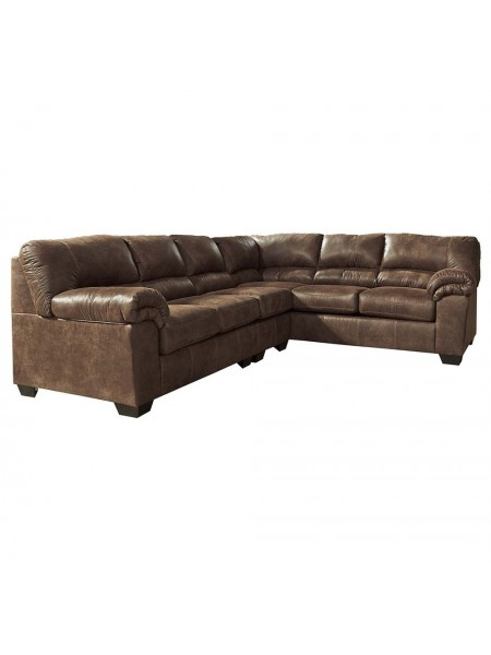Диван Bladen 1200067 3-местный модульный (правая секция углового дивана) 236х97х97 см Коричневый