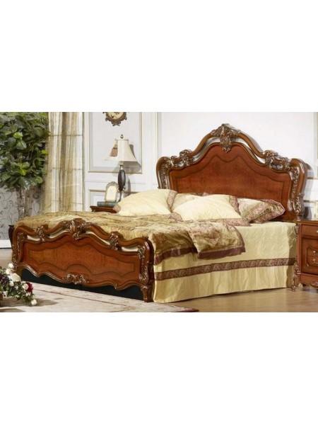 Кровать MK-3004-BR двуспальная 181х201 см Темный орех