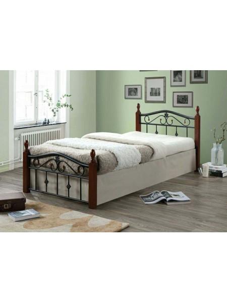 Кровать Mabel MK-5225-RO двуспальная 160х200 см Темная вишня