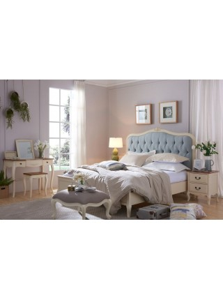 Кровать Florence MK-5022-AW двуспальная NDS149 160х200 см Молочный/голубой