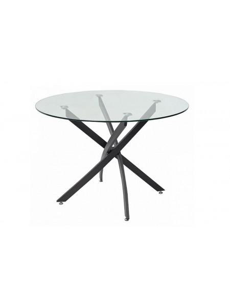 Стол Кроун MK-5814-GL стеклянный 110х110(110)х75 см Прозрачный